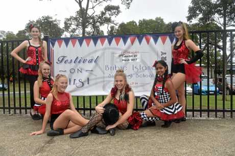 DANCE TROOPS: Students from Senior Dance Extension at Bribie Island State High School are excited to perform at Festival on First.