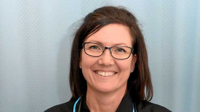 PAYING IT FORWARD: Amanda Christensen is training to become an enrolled nurse at the Hervey Bay TAFE campus.