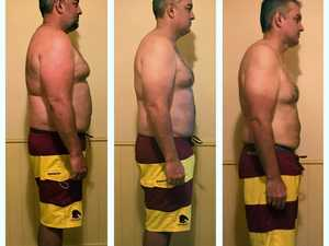 Toowoomba man's amazing body transformation in a month