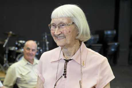 Muriel Johns is a member of a therapeutic choir at USQ for people living with Parkinson's Disease.