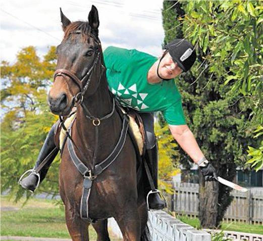 SADDLING UP: Joy Ringrose on a previous election trail.