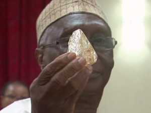 BLESSED: Pastor finds 706 carat diamond