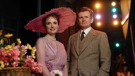 My Fair Lady cast members Anna O'Byrne, as Eliza Doolittle, and Charles Edwards as Henry Higgins.