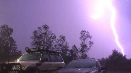 Bli Bli lightning strike.