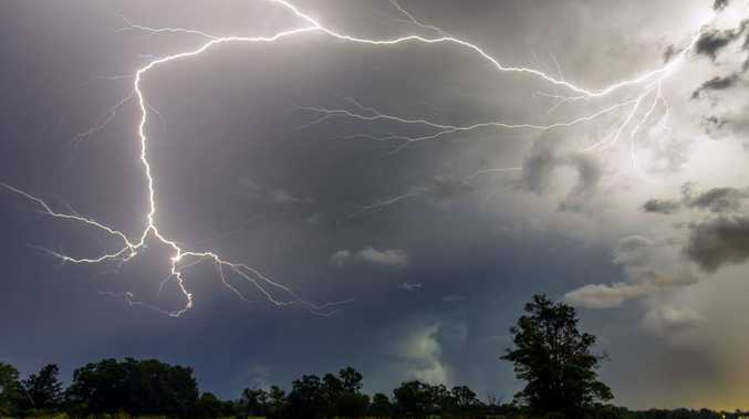 The storm over northern Caboolture.