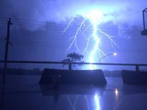 Savage lightning storm lights up Sunshine Coast