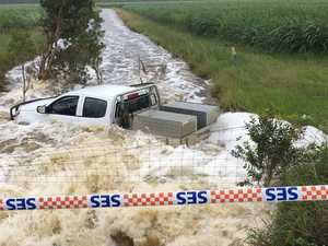 Rain flooding in Maclean, Brooms Head