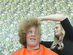 Teen shaves off afro for World's Greatest Shave