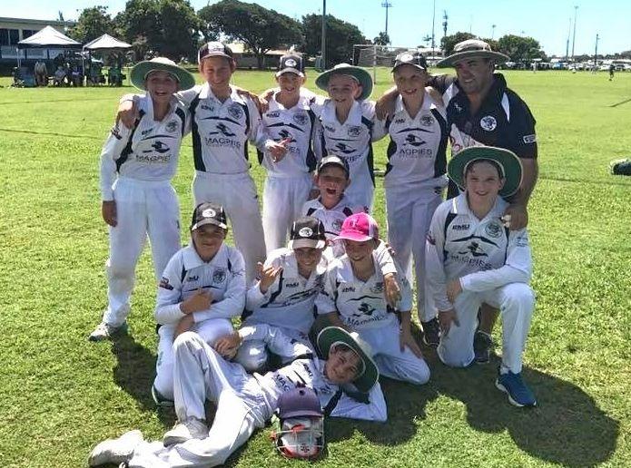 The winning U12 Magpies team.