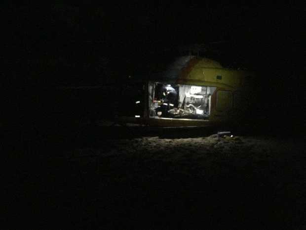 AT ABOUT 3.50pm Saturday, the RACQ Capricorn Helicopter Rescue Service was tasked to a rescue mission near Curtis island in the Cape Keppel region after debris from a helicopter had been found washed up on the coast.