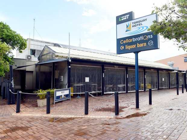 Damaged caused by Friday night's rainfall - The Torquay Hotel is closed until repairs are completed.