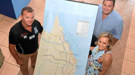 Cr Ross Gee (Mackay Regional Council), Craig Turner (Whitsunday Tourism) and Bridget Woods (Townsville Enterprise) look at how collaboration can help grow recreational fishing across Mackay, Whitsundays and North Queensland.