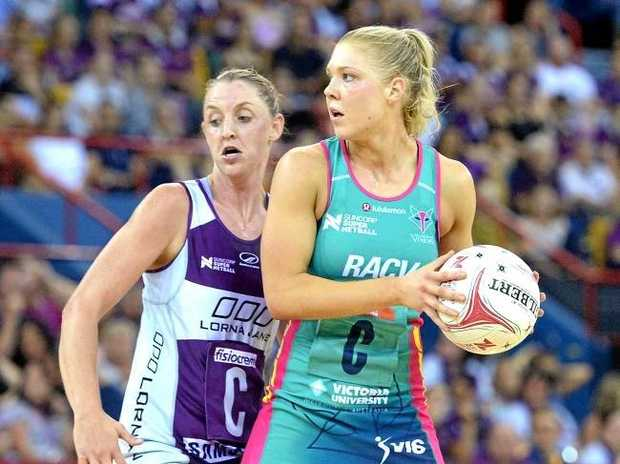 Kate Moloney of the Vixens looks to pass. Source:Getty Images