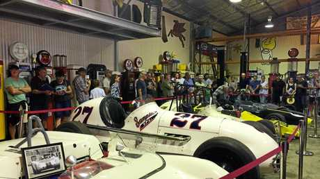UNDER THE HAMMER: Vintage cars at an Alstonville auction on Saturday.