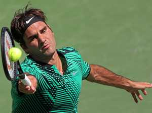 Federer fires at Indian Wells to set up all-Swiss final