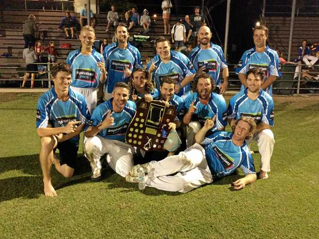 DROUGHT BREAKER: Coutts Crossing broke its top grade major premiership drought defeating Harwood in the 2016/17 Cleaver's Mechanical Night Competition grand final at McKittrick Park.