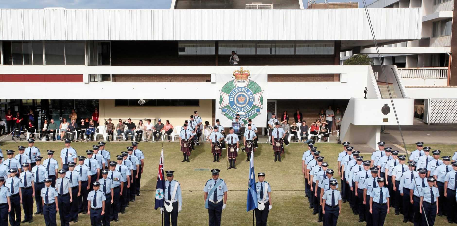 Police recruits graduating from Oxley Police Academy.