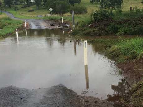 Water over Cross Road at Numulgi.