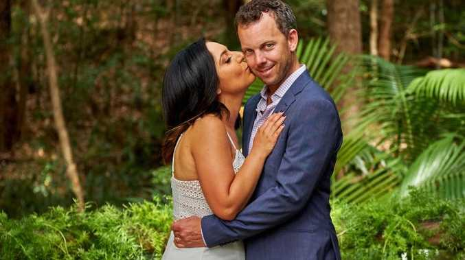 Alene and Simon renew their vows in a scene from Married At First Sight.