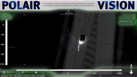 POLAIR vision shows stolen cars cause havoc on the streets of Toowoomba.