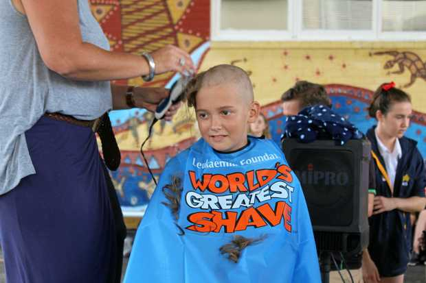 BUZZ CUT: Tweed River High School student Will Jaeger shaves his hair for the Leukaemia Foundation.