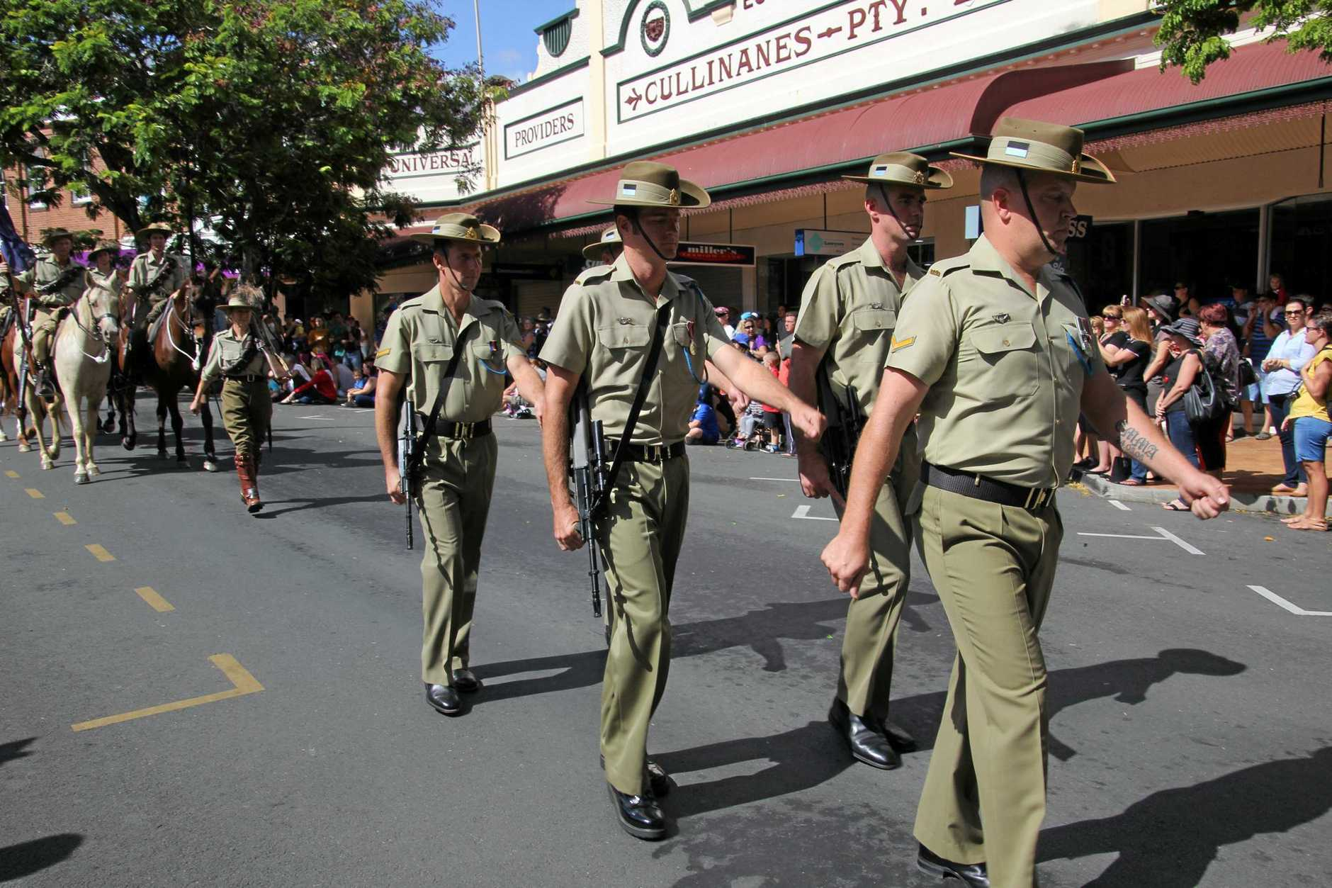 ANZAC DAY WORRIES: The Gympie Anzac Day march is on the lookout for a marching band.