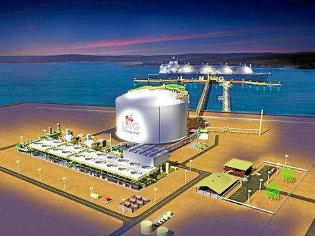 An Artists' impression of the Fisherman's Landing LNG project.