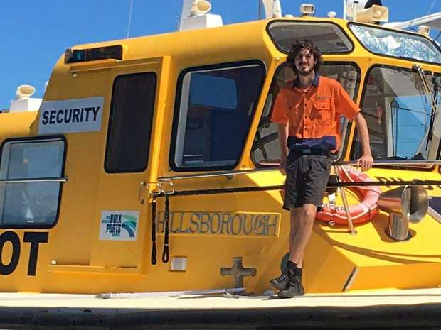 STUDYING HARD: Deckhand Toby Otto is enjoying his SEE studies with CQUni Mackay.