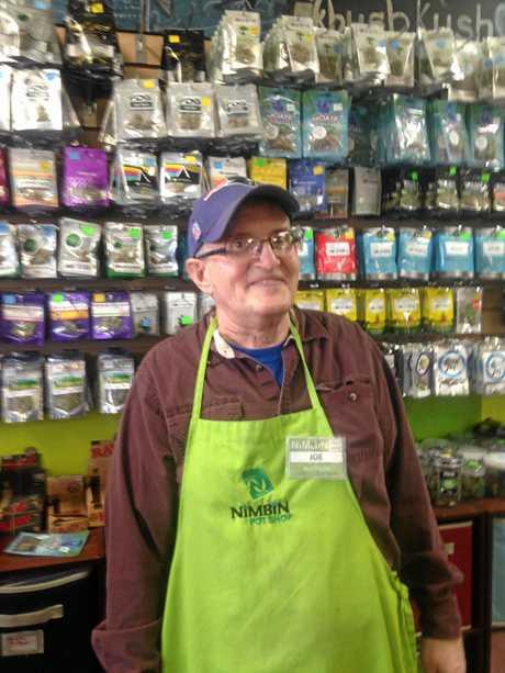 GROWTH INDUSTRY: Joe at the Nimbin Pot Shop in Seattle.