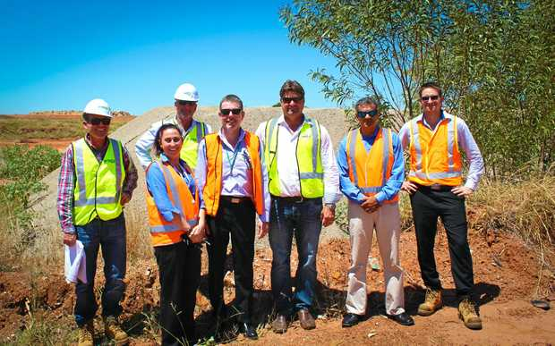 ON SITE: Construction to kick off on Moranbah Resource Recovery Centre: Vella's Civil Earthmoving Civil Project Manager Michael Novikov, FKG Group Project Manager Mark Plested, Isaac Regional Council Project Support Officer Katrina Jones, Isaac Regional Council Manager Resource Recovery Shane Anderson, FKG Group Project Director Brad Gardner, GHD Project Manager Robby Chohan, and GHD Superintendents Representative Simon Cunningham.