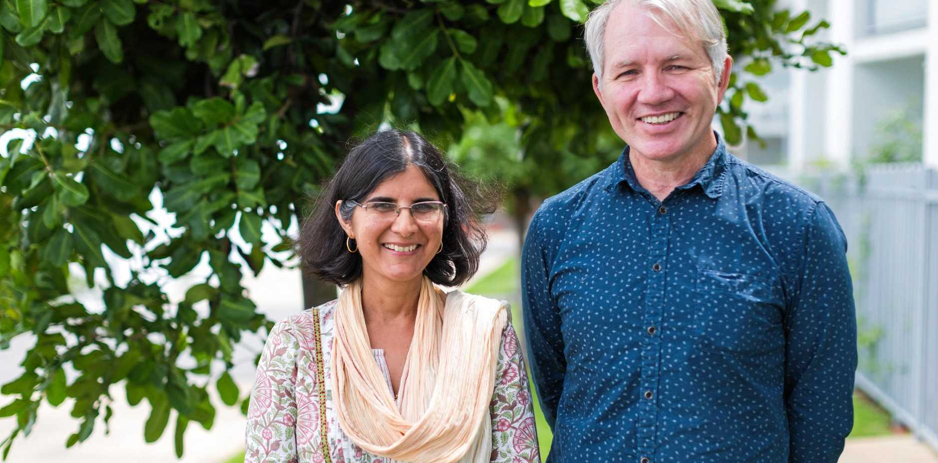 Clinical Associate Professor Rashmi Sharma OAM, discussed mentoring new doctors wanting to specialise in general practice with Alstonville's Dr Tony Lembke, at a seminar in Ballina.
