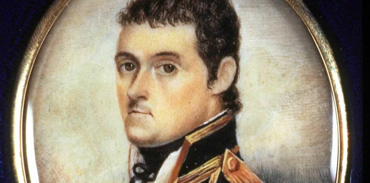 A minature portrait of Matthew Flinders, 1801.