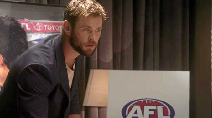 Chris Hemsworth stars in the latest AFL campaign.