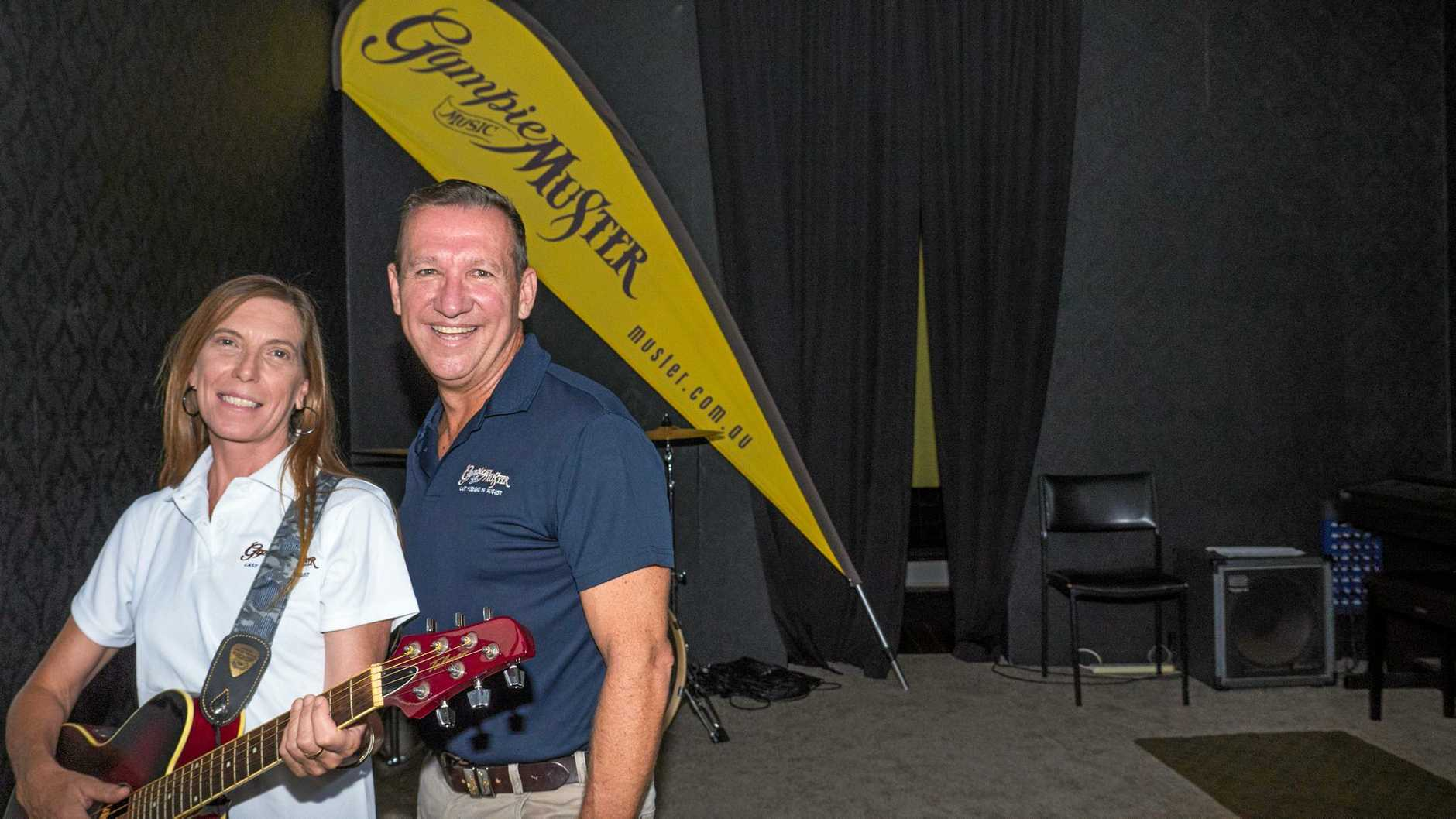 ALL THE RIGHT NOTES: New Gympie Muster festival director Melinda Wells and executive director David Gibson.