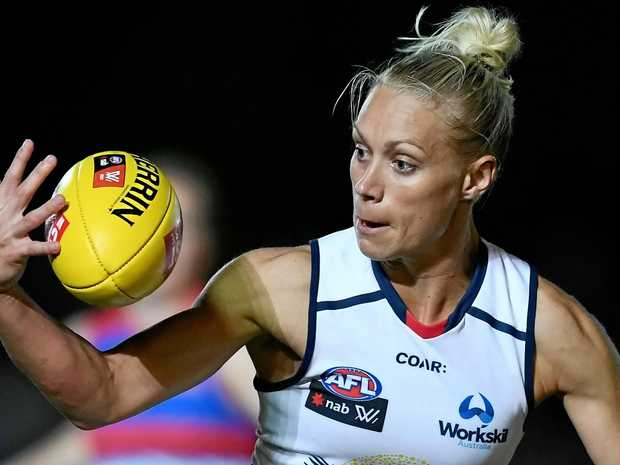 Erin Phillips has been a star for the Crows in the first season of the women's AFL league.