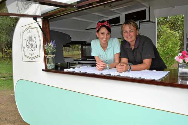 TEA TIME: Kim Bailey and Cathy Ryan are transforming Baringa Nursery into Baringa Gardens and Little Kimmy's Tea Rooms.