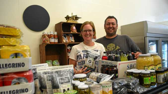 Rosie and Mark Favero hard at working getting their new venture ready for opening.