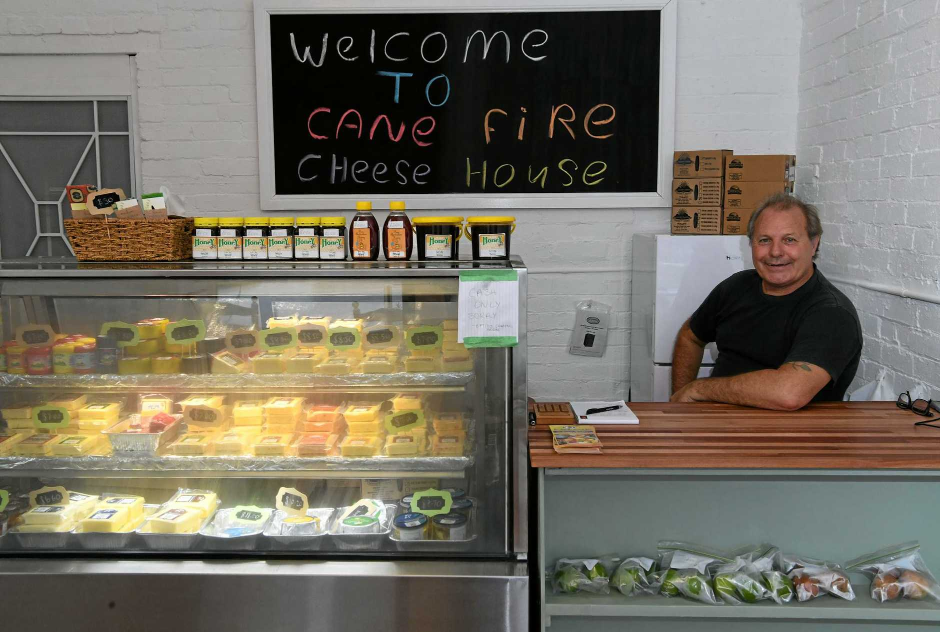 DELI DELIGHTS: Peter Eschbach inside the newly opened Cane Fire Cheese House.