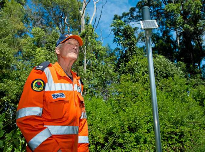 EARLY WARNING: Local SES unit controller Bill Roffey said the new DipStik early warning flash flooding monitor system worked well over last week's heavy rains in Coffs Harbour.
