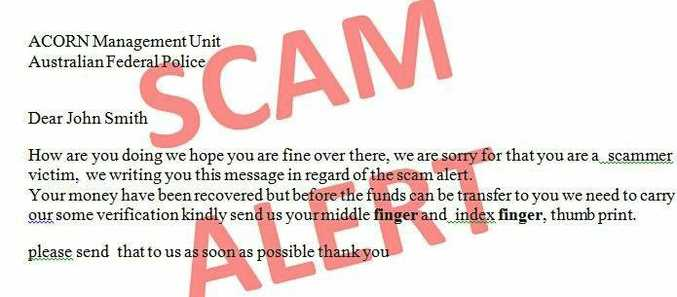 A fake scam the AFP has warned people to look out for.
