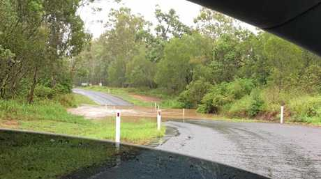 FLASH FLOODING: Cinda Smith's photo of water blocking off Gentle Annie Rd.