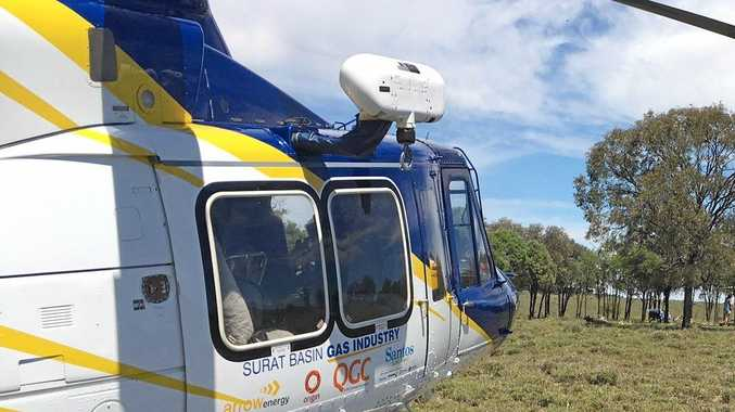 A man in his 40s was airlifted this morning after a serious crash