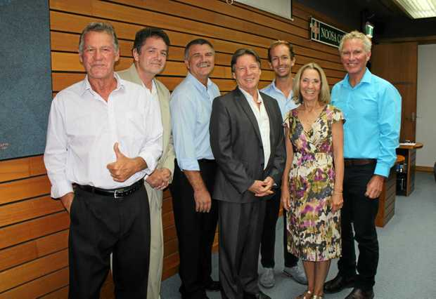FRESH BLOOD: The new Noosa Council as it is sworn in on April 5 last year.