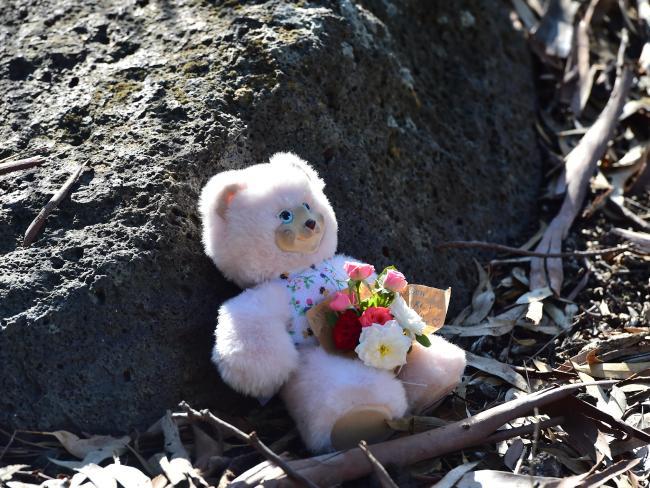 Memorial for baby Sanaya Shaib at Darebin Creek.Source:News Corp Australia