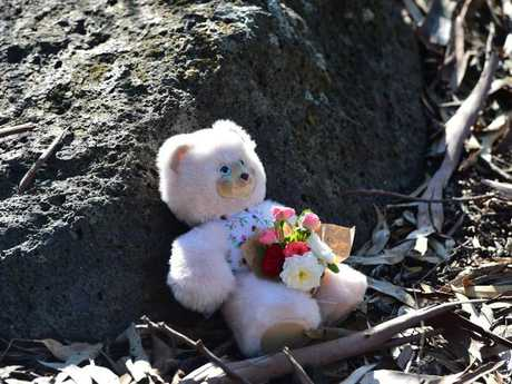 Memorial for baby Sanaya Shaib at Darebin Creek.Source:News Corp Australia