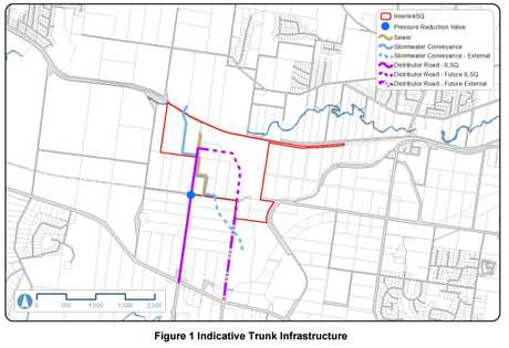 A diagram showing proposed trunk infrastructure InterLinkSQ at the project site.