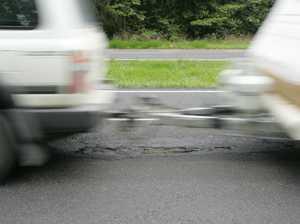 Caravan and truck collide