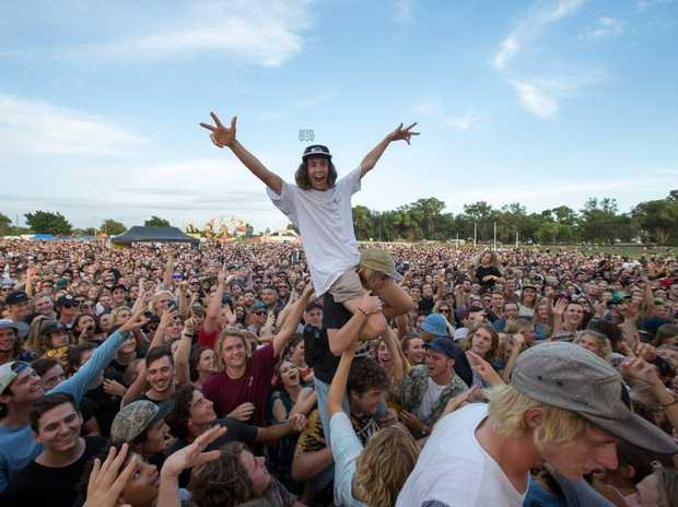 Concert goers enjoy music at Triple J's One Night Stand in Geraldton in 2016.