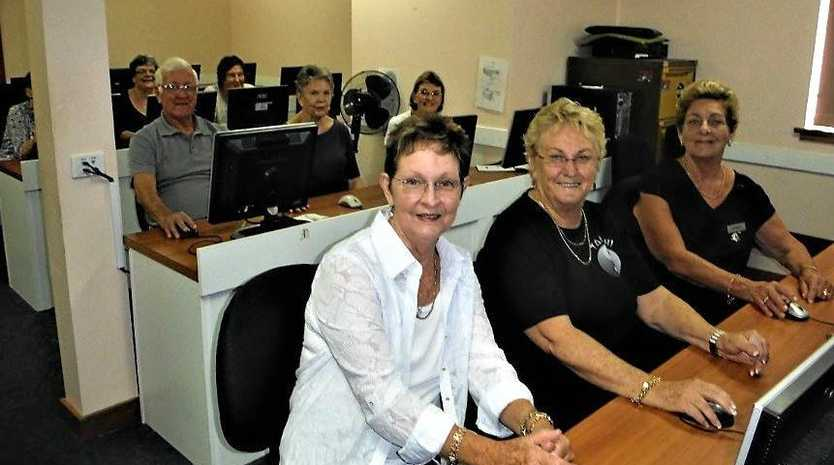 SOCIAL AND SOCIABLE: Ron Ware's Windows 10 class at Long Jetty Senior Citizens Club.