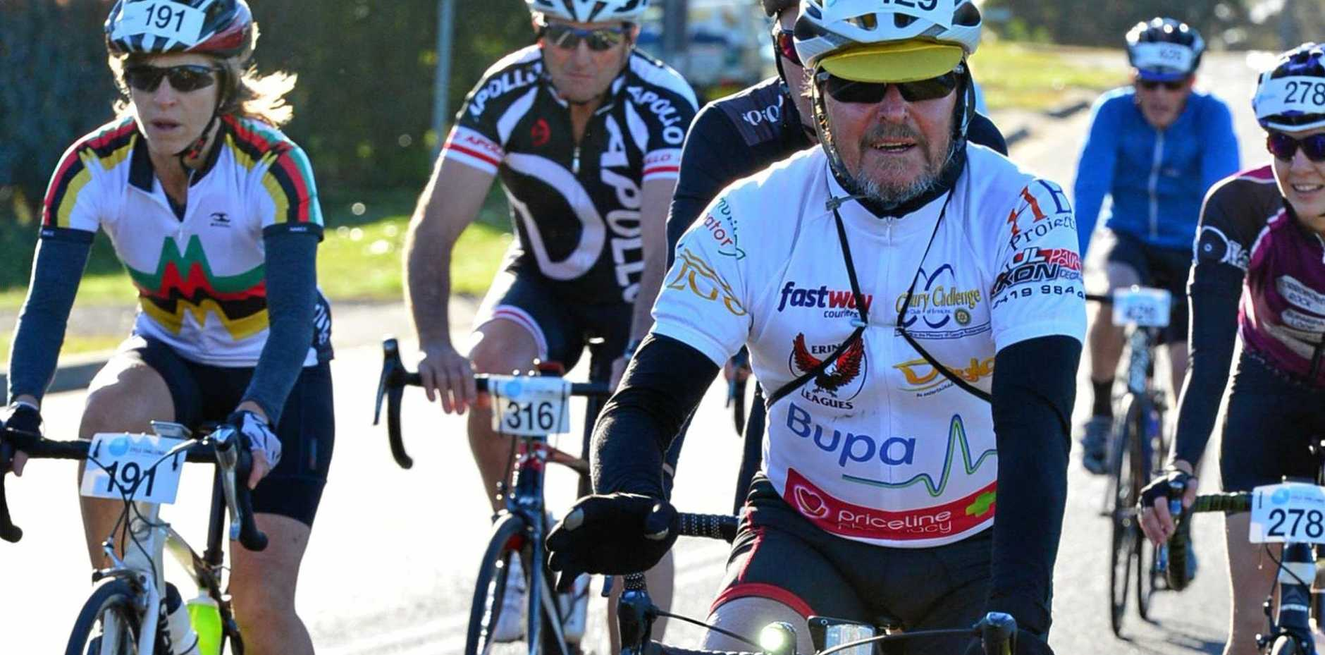 CHALLENGE: Deane Scadding loves putting his body and mind to the test in cycle events.